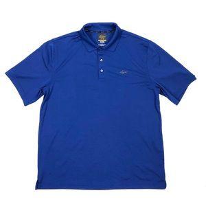 Greg Norman Blue Dri-Fit Golf Polo Men's Size L